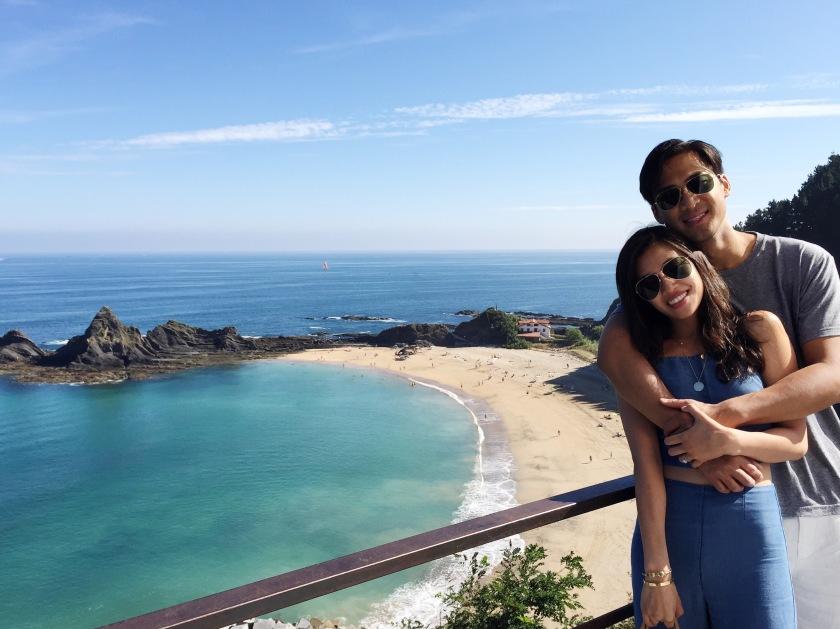 honeymoon san sebastian spain beach water blue
