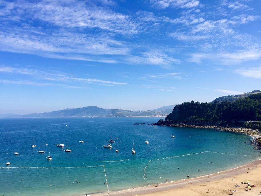 getaria basque country spain honeymoon road trip beach blue