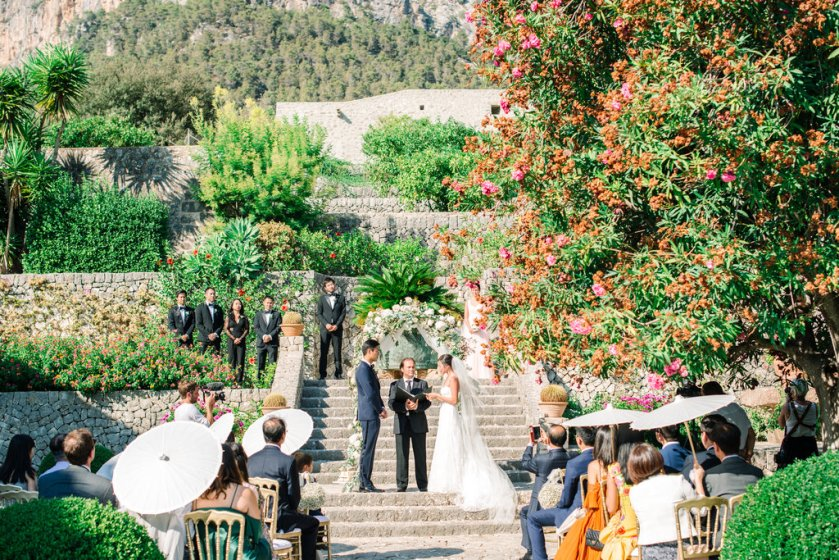 Destination wedding at Finca Son Berga in Mallorca, Spain.